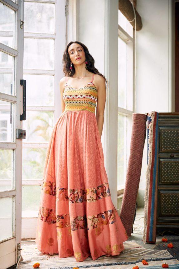 Beadwork Maxi Dress