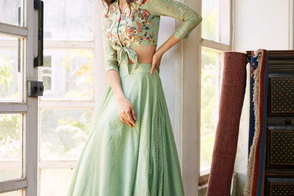 Sea Green Top & Skirt