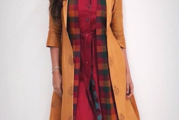 2 Layered Jacket – Kurta Set