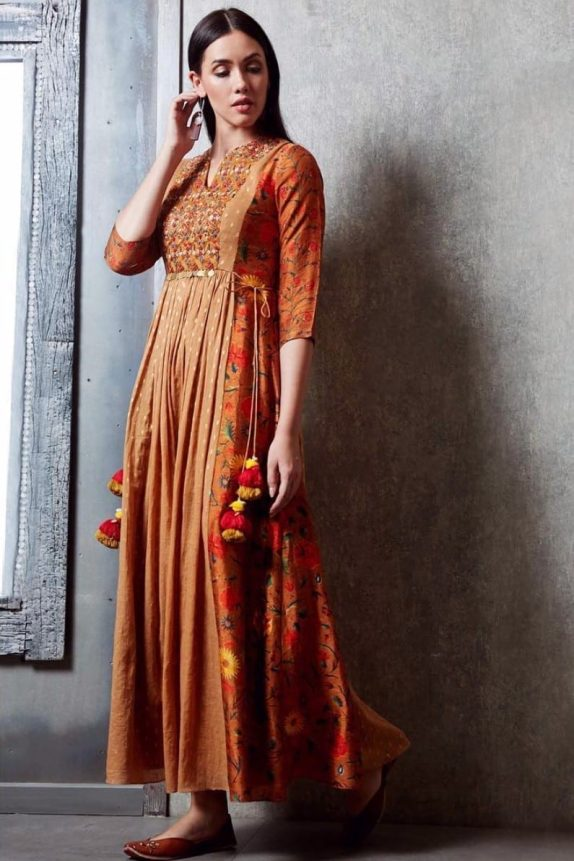 Brown Ankle Length Maxi Dress