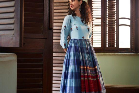 Blue Boho Maxi Dress