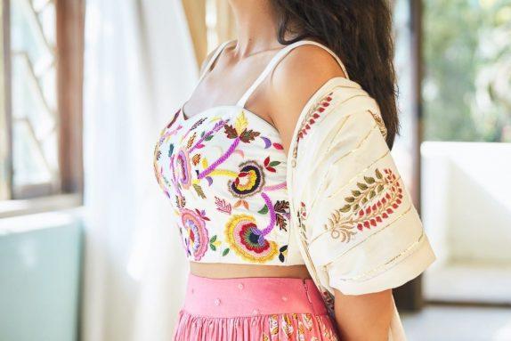 Pink & White Lehenga