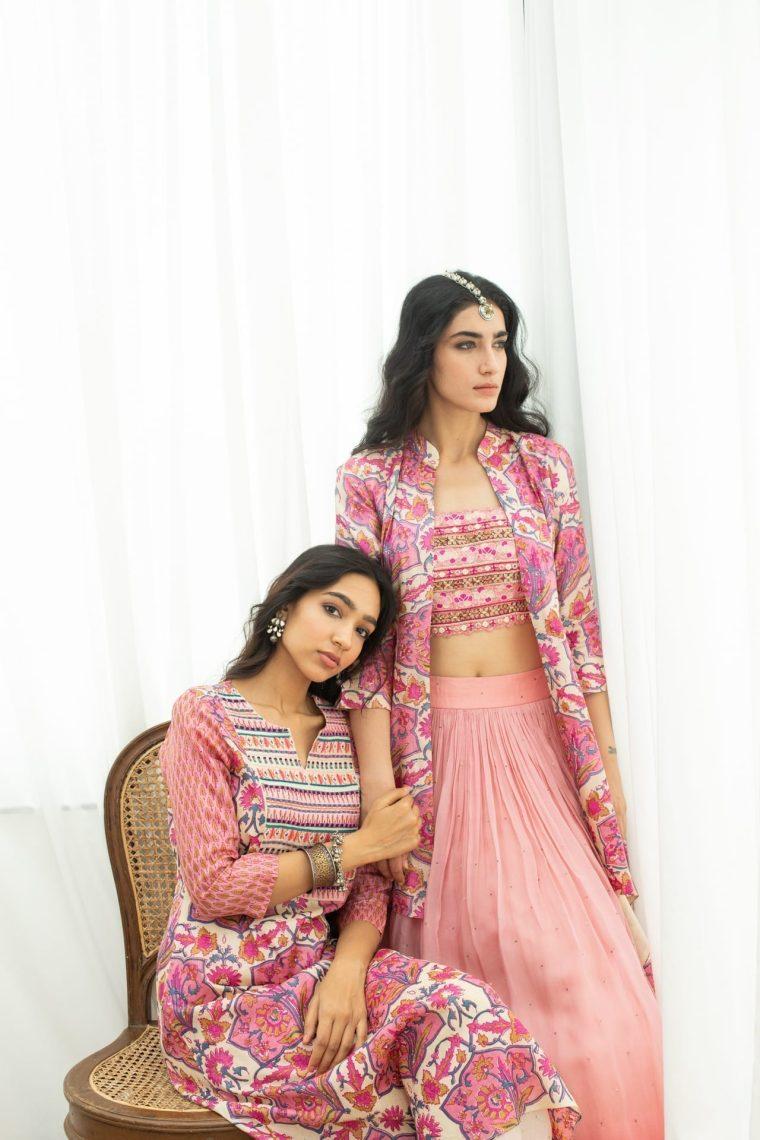 Pink Lehenga & Jacket Set