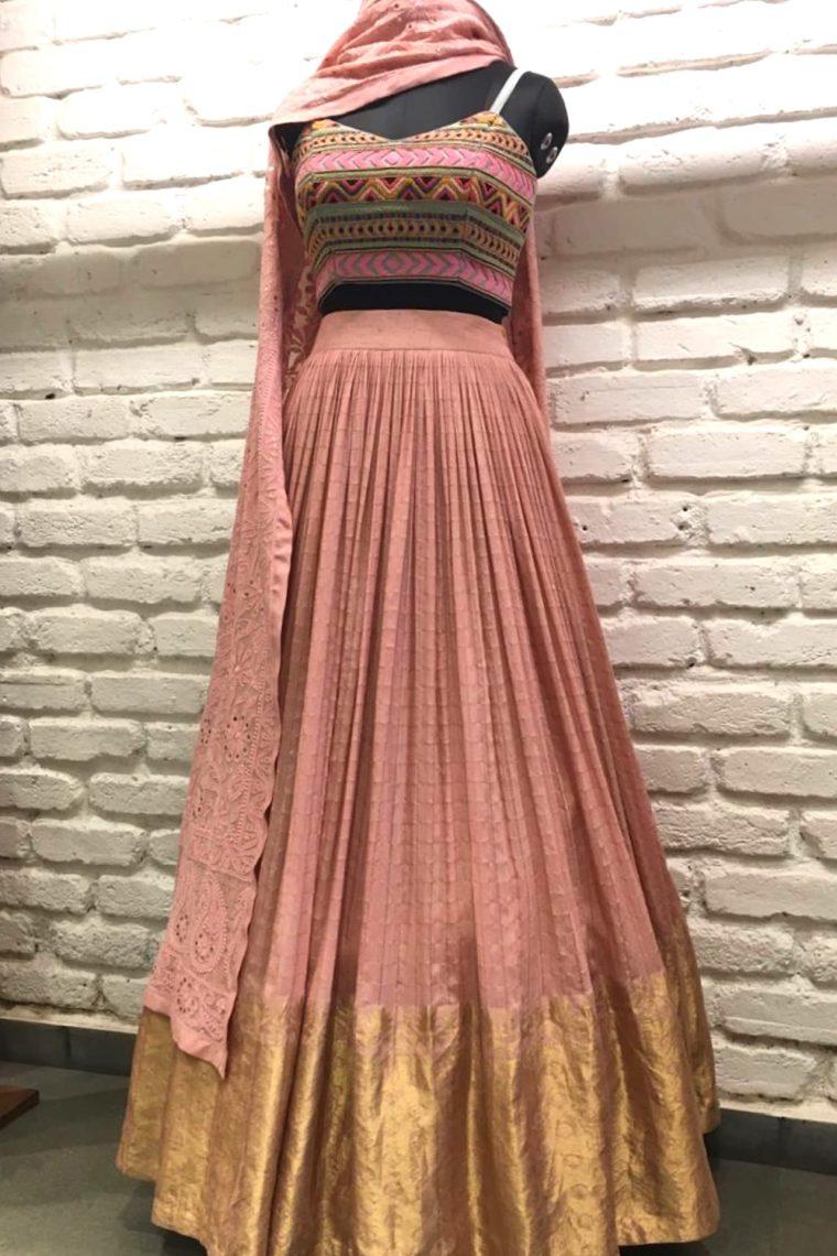 Light Pink Lucknowi Lehenga Set