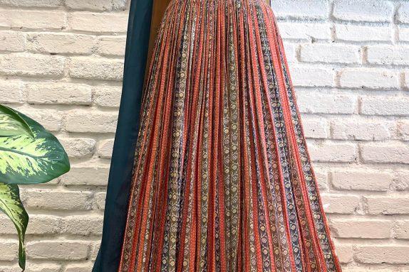 Red & Yellow Silk Lehenga