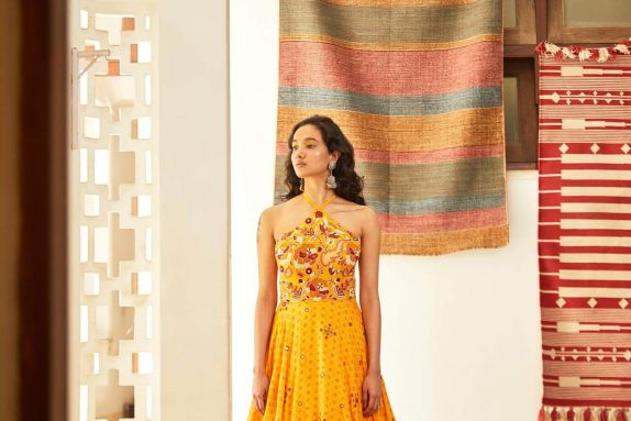 Yellow Halter Gown
