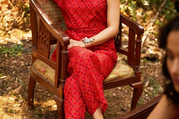 Red Bandhani Co-ord Set