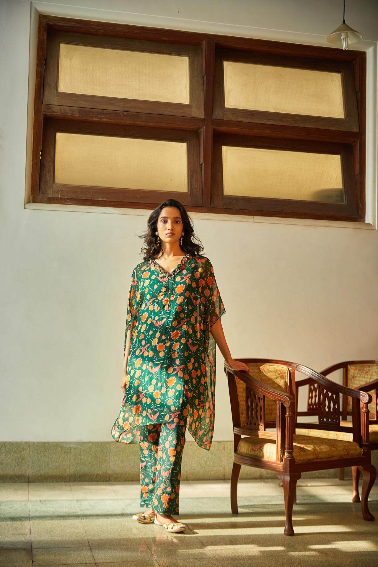 Tropical Kurta & Pant Set