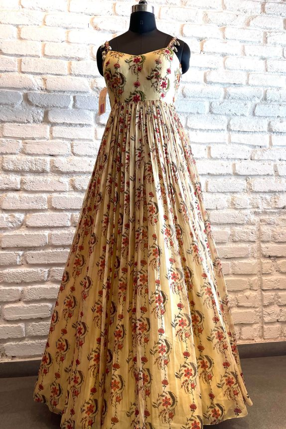Floral Ivory Gown