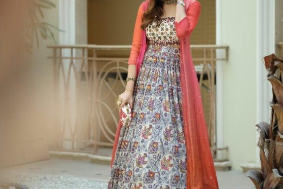 Mirror Work Multicolour Lehenga