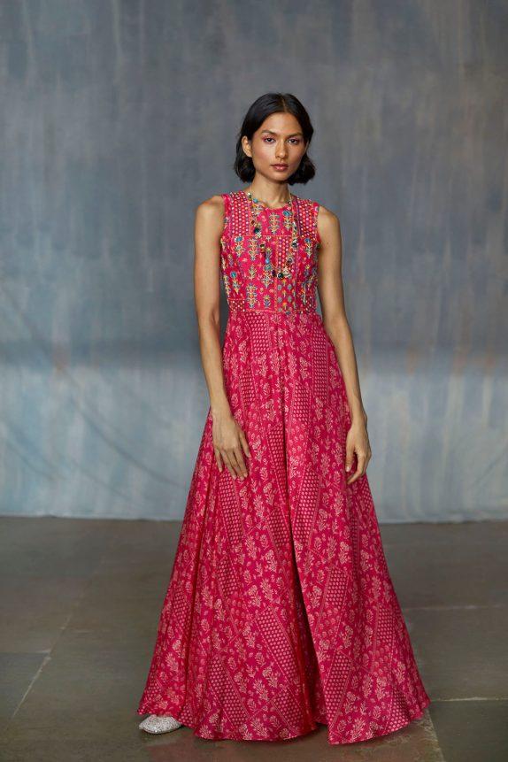Pink Printed Jumpsuit