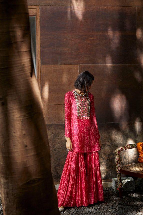 Pink Sharara Set